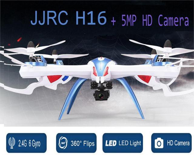 Drone jjrc h16 x6 grande profissão 2.4g rc quadcopter rtf helicóptero uav com 5mp câmera hd grande angular f15733/34