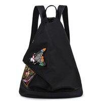 Venta caliente del estilo Chino de impresión mochila mochilas feminina Impermeable mochilas de nylon bordado mochila chica bolsa de hombro