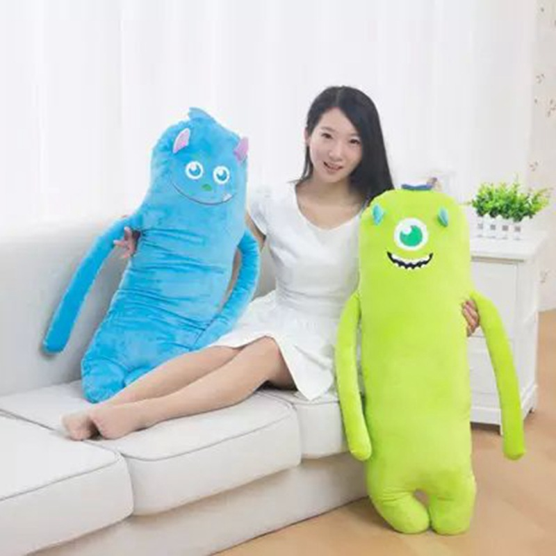 New Arrive 1Pc 90x26Cm Anime Monsters Inc Mike Wazowski Plush Toy Monsters University Soft Stuffed Doll Kids Birthday Gift 2016new brand cartoon beanie monsters sulley mike inc sullivan sully plush hat cute cap soft kid toy birthday gift for children