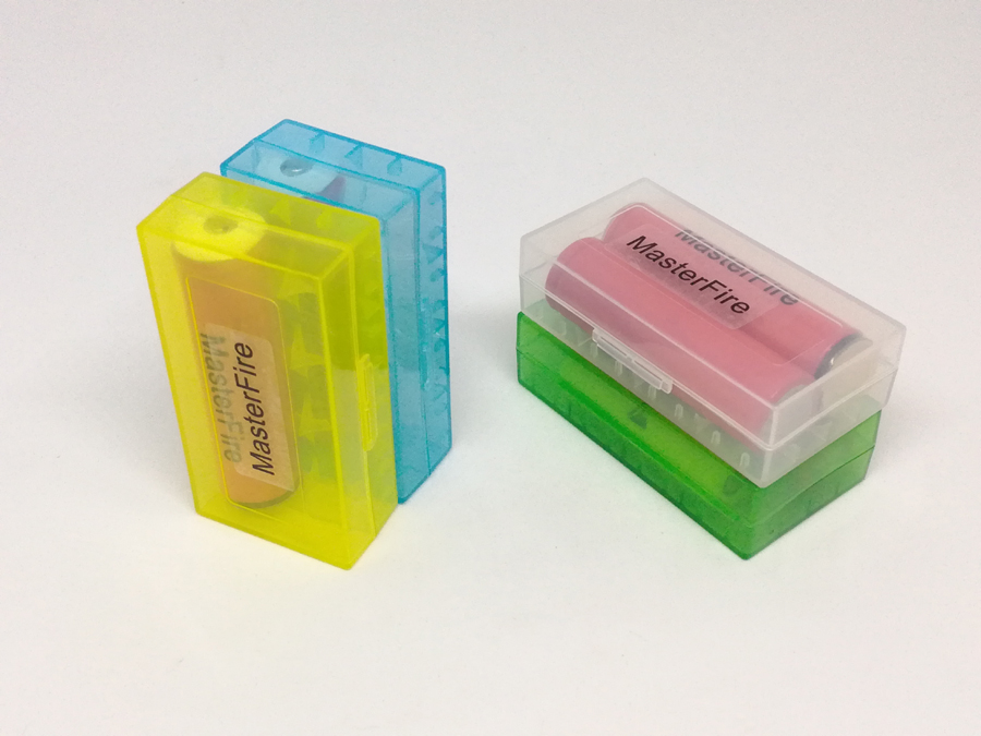 MasterFire 40pcs/lot New Hard Plastic Battery Protective Storage Boxes Cases Holder For 18650 18350 CR123A 18500 Battery