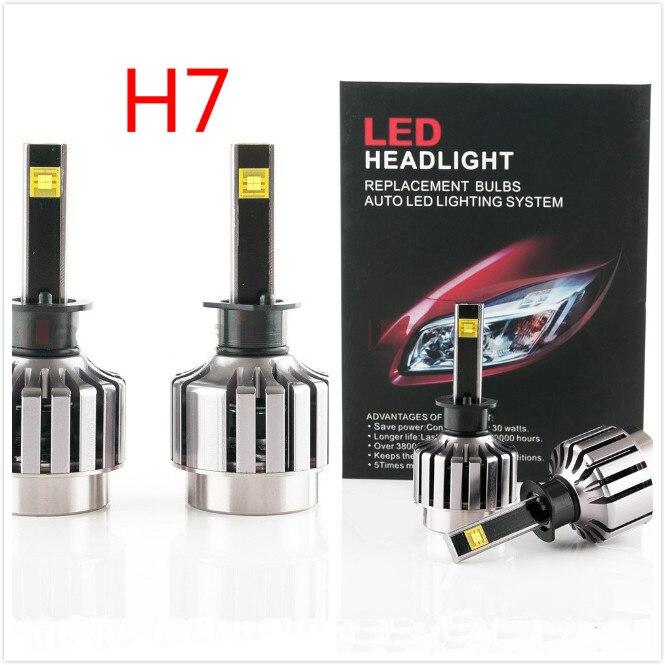 2016 NOUVEAU H7 2 pièces 30 W H7 Voiture phare LED Kit LED Remplacement Ampoule Phare Antibrouillard Lumière 6000 K 12 V 24 V Pas Besoin de Ballast Relais