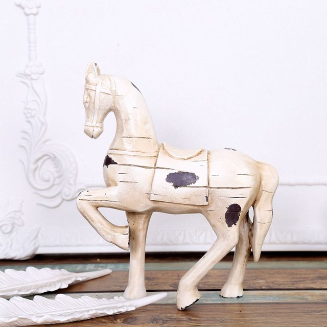 Brand-new Retro Wood Horse household adornment living room office articles  XP24