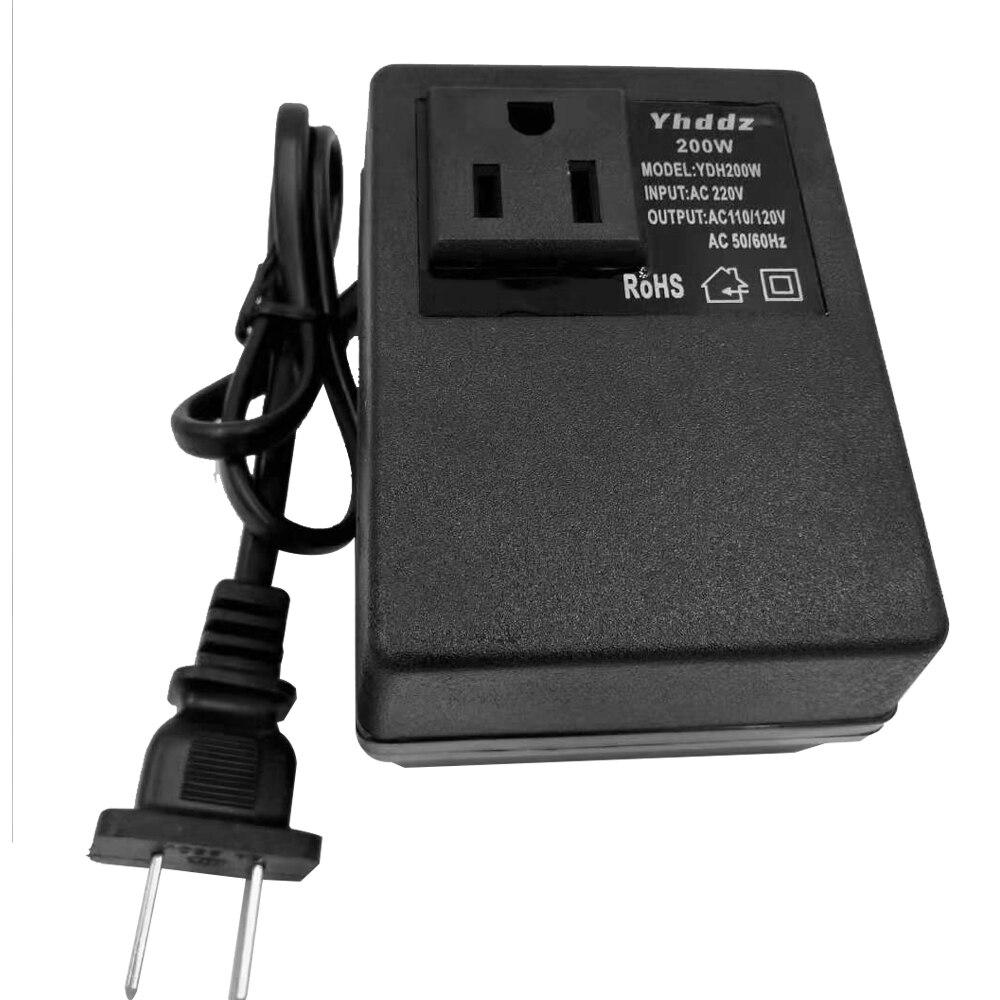 Power-Adapter Down-Transformer-Voltage-Converter 110V 220V Travel AC To Step 200W Intelligent