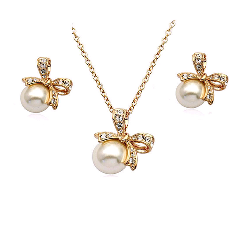jewelry sets african beads bridal pearl jewellery set Gold Color ...
