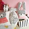 Новый скучно медведь подушку долго уха кролика кукла, чтобы успокоить фокс белка подушка держать подушку для детей