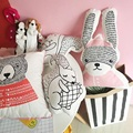 New dull bear pillow long ear rabbit doll to appease the fox squirrel cushion hold pillow for kids