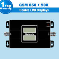 New Lintratek Two LCD Displays!! GSM 65dB Cell Phone Amplifier 850mhz 900mhz Dual Band Cellular Signal Repeater Booster Brazil44