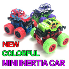 2019 New colourful Kids Cars Monster Truck Inertia SUV Friction Power Vehicles Baby Boys Super Sturdy Children Gift Toys