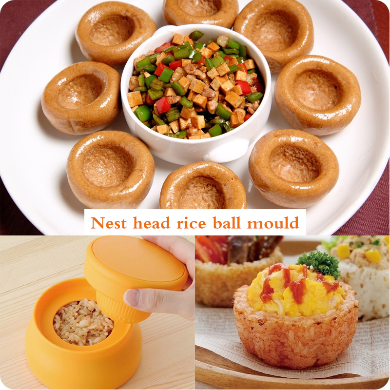 Nest head Mold DIY Baking Home Creative Rice Cups Home Rice Balls small tools