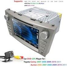8»2din автомобиля радио gps навигации мониторы для Toyota Camry Aurion головного устройства Стерео Руль Bluetooth DAB + RDS CAM