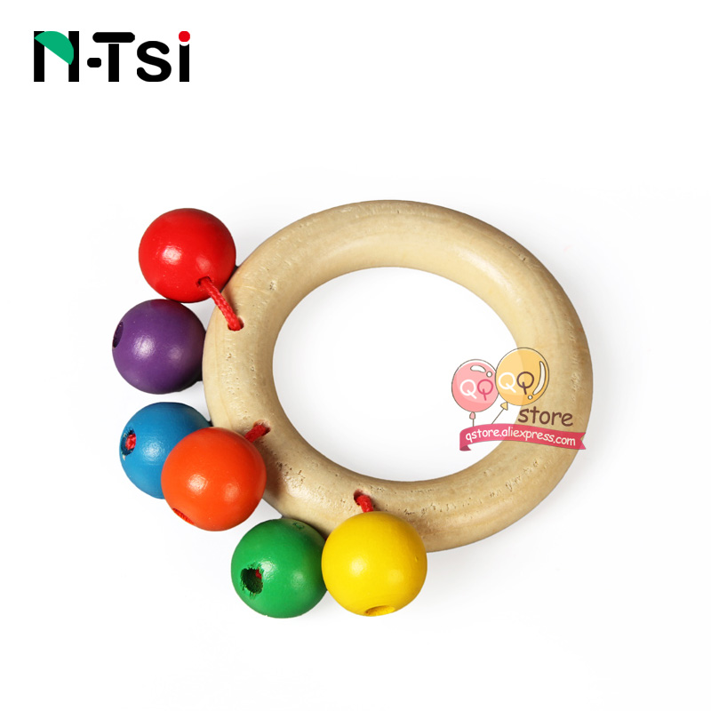 Image 4 - N Tsi Wooden Baby Rattles Grasp Play Game Teething Infant Early Musical Educational Toys for Children Newborn 0 12 months Gift-in Baby Rattles & Mobiles from Toys & Hobbies