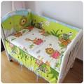 Promoción! 6 unids Healthy Kids de accesorios, sábanas cuna para bebé Set ( bumpers + hojas + almohada cubre )
