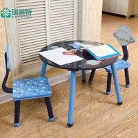 Rui нам специальные детские столы и стулья костюм из 2 предметов мультфильм детские мебель, Рабочий стол столы и стулья