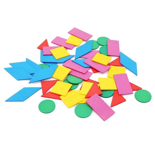 Bebé Montessori matemáticas Circular colorido juguetes de madera Montessori niños juguete educativo figura aritmética madera Sensory preescolar