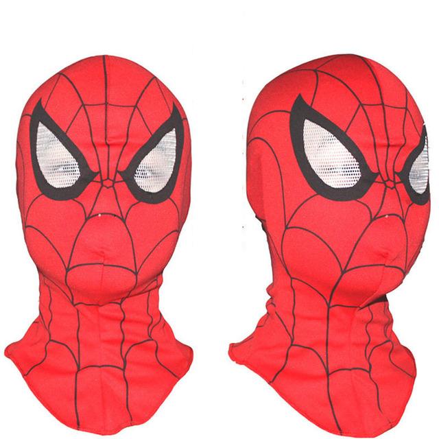 Super cool Spiderman maska Cosplay kaptur maski Full Head Halloween maski dla dorosłych i dzieci zwierzęta kostiumy tanie tanio Costumes Unisex Bawełna Masks Superhero Sci-Fi kostiumy Maski kaptur party inne Dzieci i dorośli Maski Halloween party