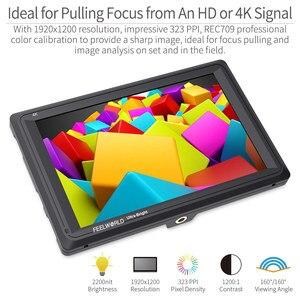 Image 3 - Feel world FW279 شاشة 7 بوصة فائقة السطوع 2200nit على مجال الكاميرا DSLR شاشة كاملة HD 1920x1200 4K مدخل HDMI الناتج سطوع عالية