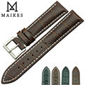 MAIKES New Product Durable Genuine Leather Watch Band 19mm  20mm 22mm Black casual Watch strap Stainless Steel Buckle For TISSOT
