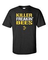 Krótki Rękaw szyi Round Top Tee Zabójca Freakin' Pszczoły Pitsburg Steelers męska T-Shirt-2XL Czarny (1018) T shirt
