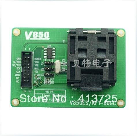 IC burn LQFP80 seat adapter V850ES/KF1-80GC test tms320f28335 tms320f28335ptpq lqfp 176