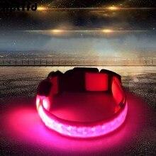 Night Safety LED Pet Dog Collar Luminous Lattice Necklace Light for Medium Large Dogs Outdoor Production(3 Mode Light)