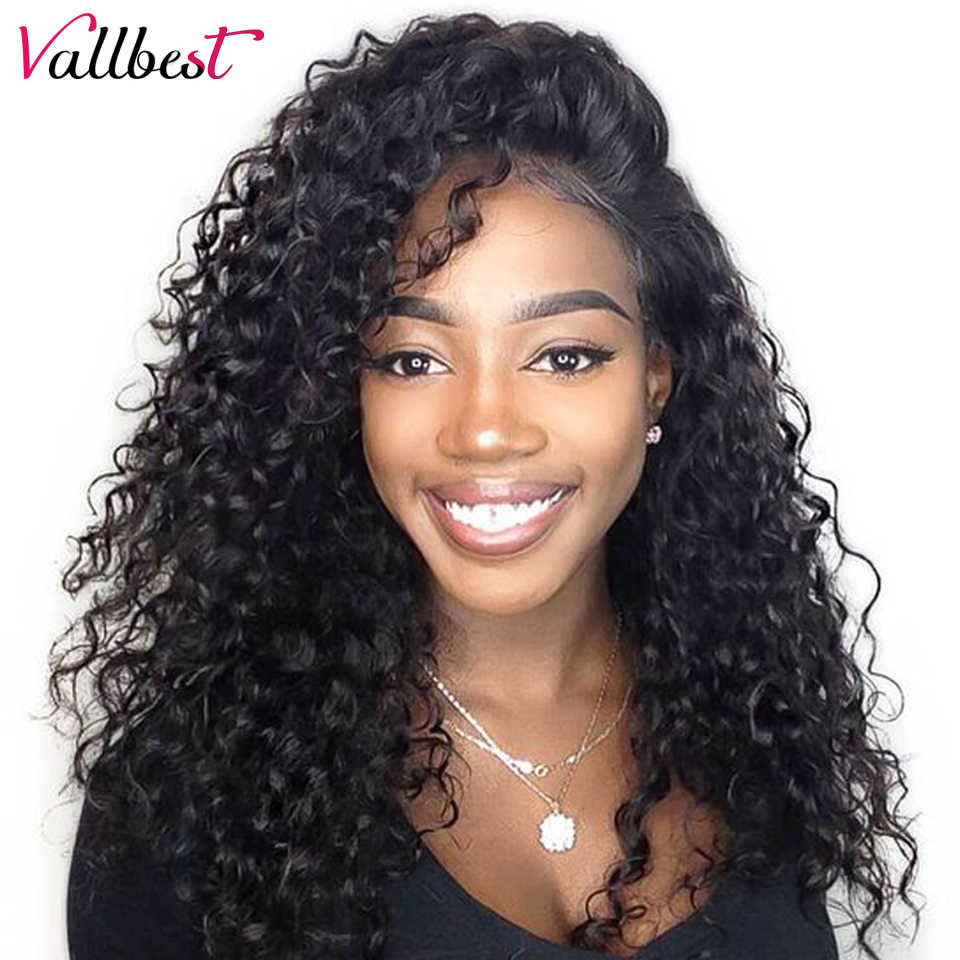 Vallbest Lace Front Human Hair Wigs For Black Women  Peruvian Water Wave Lace Front Wig Pre Plucked With Baby Hair 150% Density