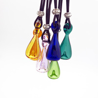 7X Diffuser Perfume Refillable Coloured handmade Essential Oil Aromatherapy Bottle Pendant Necklace drop pendant necklace