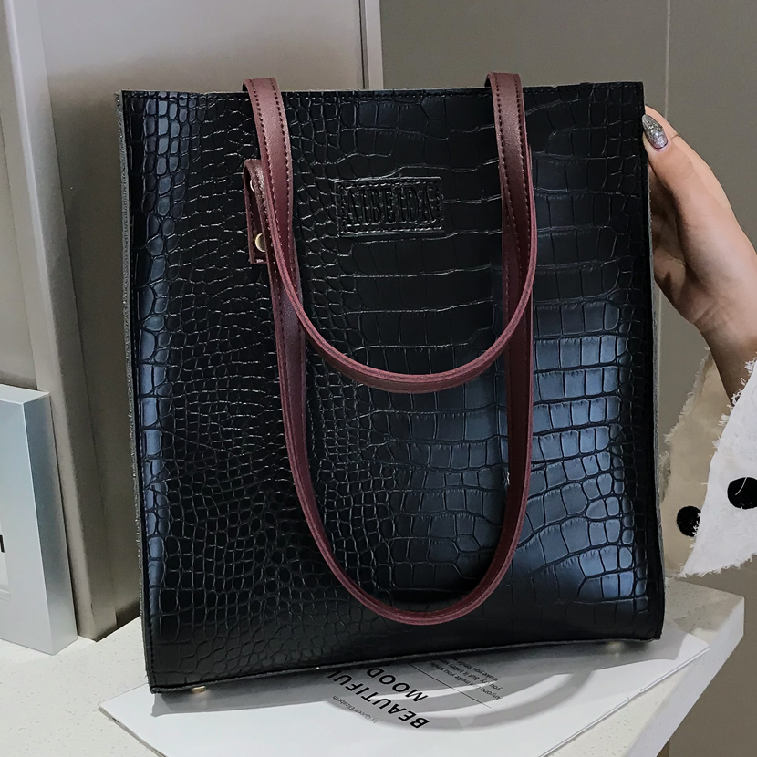 Fashion Crocodile Pattern Women Handbag Leather Ladies Hand Bags Luxury Handbags Designer Shoulder Bag For 2019