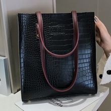 Fashion Crocodile Pattern Women Handbag Leather Ladies Hand Bags Luxury Handbags Women Bags Designer shoulder bag for women 2019