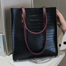Fashion Crocodile Pattern Women Handbag Leather Ladies Hand Bags