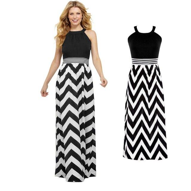 e10a5ffeb14 Long Maxi Summer Dresses Women Striped Dress Women Long Black Dresses For  Prom Vestidos Elastic Waist Bohemian Evening Party