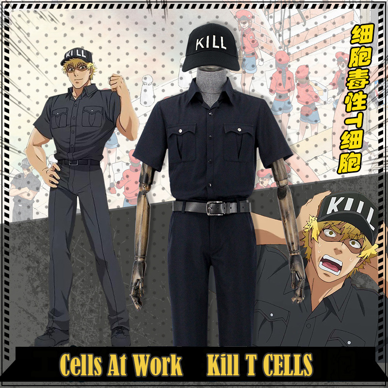 Amine Cells At Work  Killer T Cells Regulatory T Cells Uniform Cosplay Costume Hataraku Saibou Cosplay For Halloween Carnival