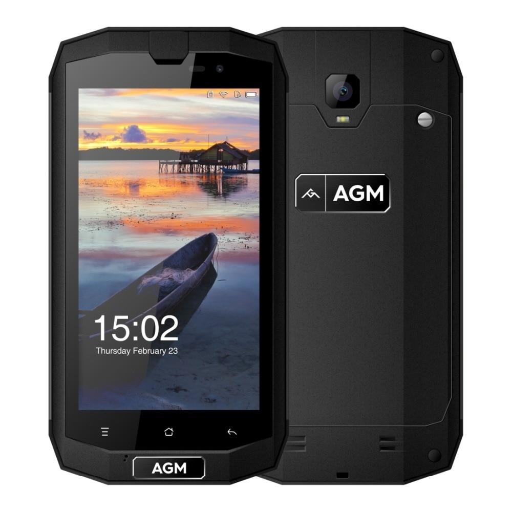 Original 4G LTE AGM A1Q Waterproof Phone 5.0'' Android 7.0 4GB RAM 64GB ROM 13MP QUALCOMM MSM8916 Quad Core 4540mAh Smartphone