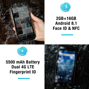 """Image 4 - Ulefone Armor X Waterproof IP68 Smartphone 5.5"""" HD Quad Core Android 8.1 2GB+16GB 13MP NFC Face ID 5500mAh Wireless Charge Phone"""