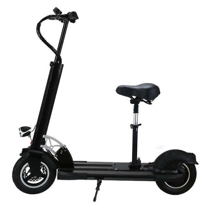 Planche à roulettes électrique de pli de conseil de vol stationnaire de 2 roues scooter électrique de 10 pouces avec le scooter rapide de siège