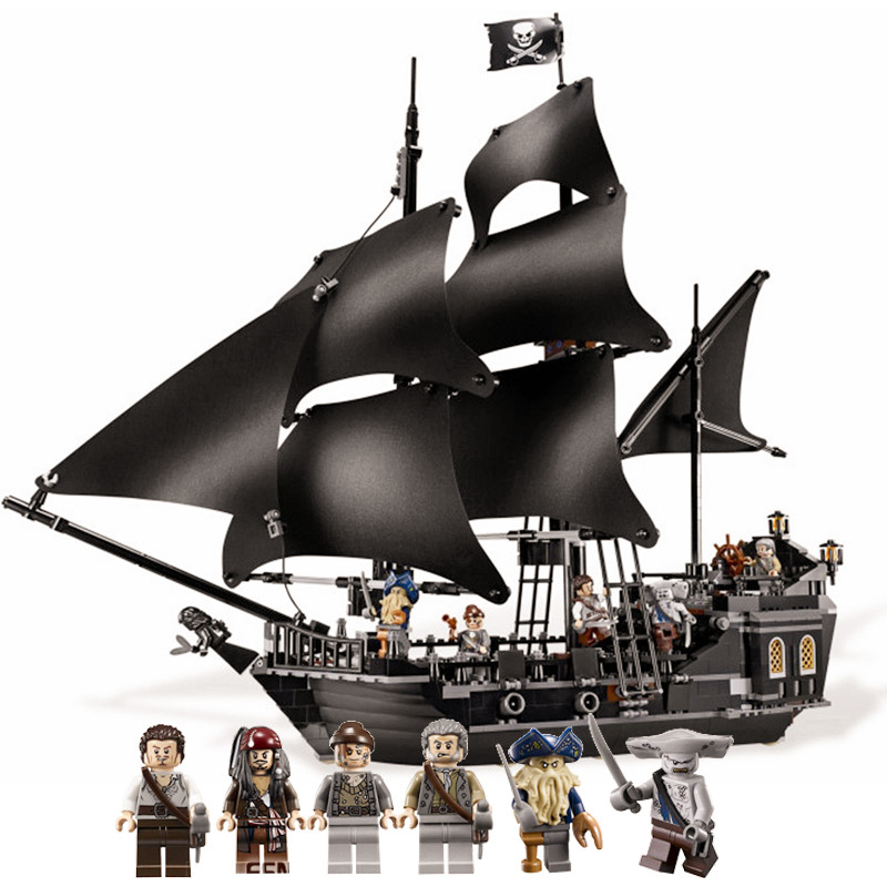 804pcs diy Pirates of the Caribbean The Black Pearl Building Blocks Set compatible with legoingly bricks Toys For Children new lepine 1151pcs queen anne s revenge pirates of the caribbean building blocks set compatible with 4195 children diy gift