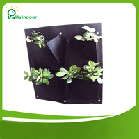 Vertical Hanging Wall Garden 4 Pockets Planting Bags Seedling Wall Planter