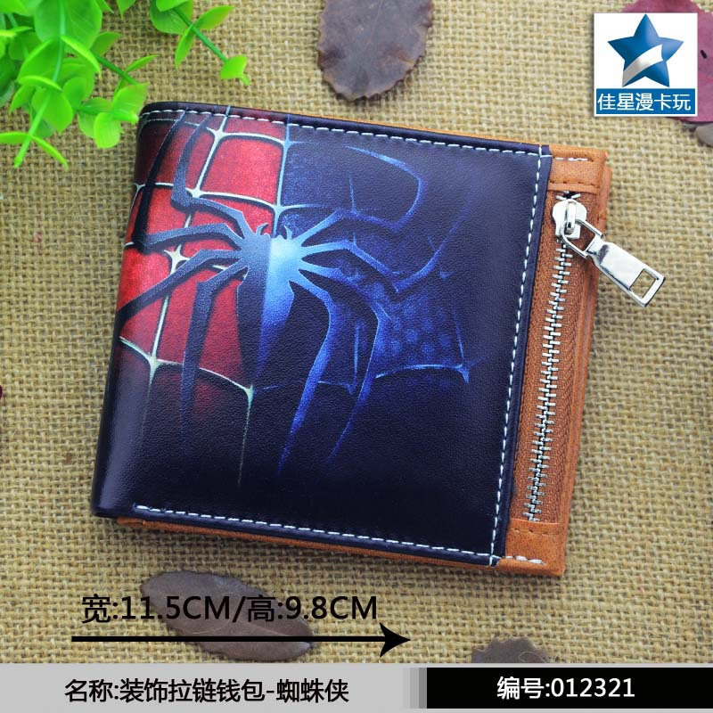 Marvel Comics Spider-Man wallets Cosplay men women Bifold coin Purse телевизор sony kdl 55wd655 black