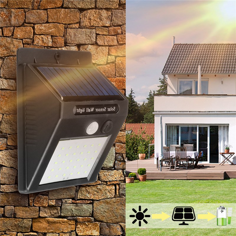 Mising 20LED Waterproof Solar Light PIR Motion Sensor Wall Lamp Outdoor Garden Street Security Solar Light Energy Saving Lamp