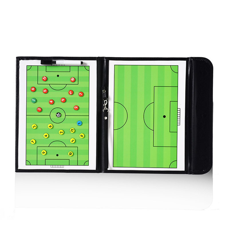 Foldable Magnetic Leather Football Tactic Board (6)