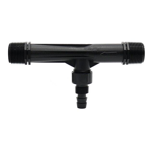 1 adet 1/2, 3/4, 1 inç Iplik Venturi gübre enjektörü Sulama Damlama Cihazı Çiçekler Gübreleme Bahçe su tüpü Verici