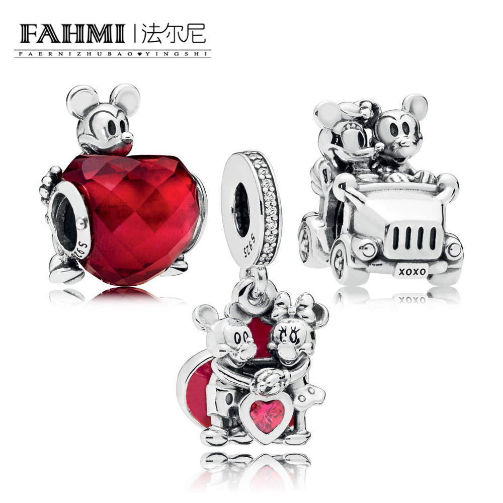 FAHMI 100% 925 Sterling Silver New 1:1 Cartoon Fairy Tale VINTAGE CAR With Love Hanging Charm Pack Beaded Gift Set DIY Bracelet FAHMI 100% 925 Sterling Silver New 1:1 Cartoon Fairy Tale VINTAGE CAR With Love Hanging Charm Pack Beaded Gift Set DIY Bracelet