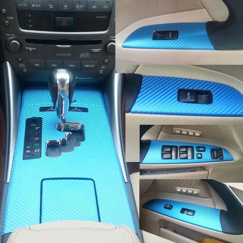 3D Carbon Fiber Car Interior Center Console Color Change Molding Sticker Decals For Lexus IS300 IS250 06-113D Carbon Fiber Car Interior Center Console Color Change Molding Sticker Decals For Lexus IS300 IS250 06-11