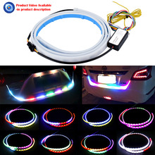 47inch Car-styling Turn Signal Strip LED Trunk Tailgate Light Colorful 7 Color Flash LED Light Bar Reverse Strips for Auto Trunk