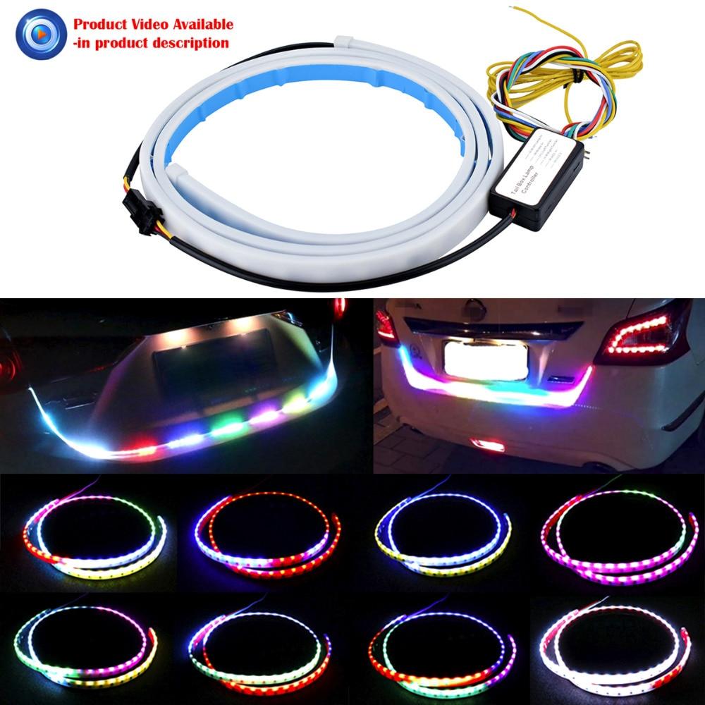 Automašīnas stila pagrieziena signāla joslas 7 krāsu zibspuldzes - Auto lukturi