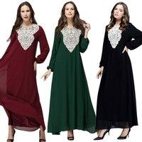 Women Muslim Abaya Islamic Long Sleeve Dress Loose Maxi Dresses Clothes Plus Size 6XL H9