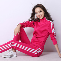 2016 Spring Autumn Classic Tracksuit Casual Sports Set Female Pullover Sweatshirt And Pant Student Clothing Plus