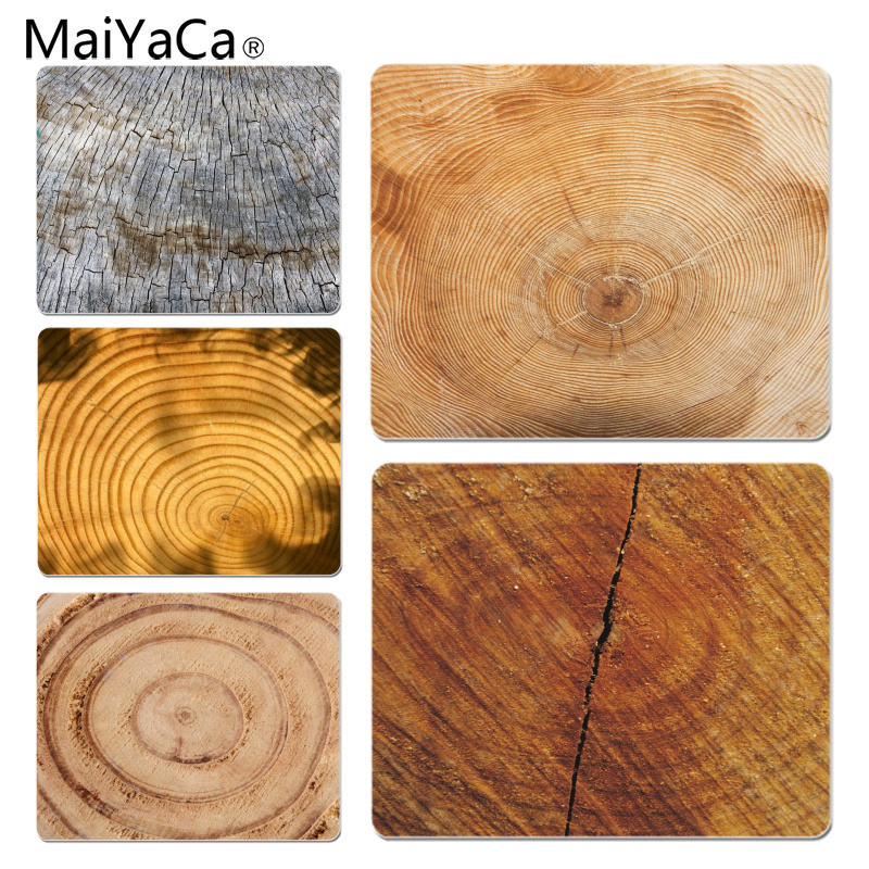 MaiYaCa Tree Ring Unique Desktop Pad Game Mousepad Size for 18x22x0.2cm Gaming Mousepads