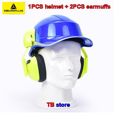 delta plus capacete de isolamento 102018 abs capacete de capacete de isolamento 103008 orelha gancho