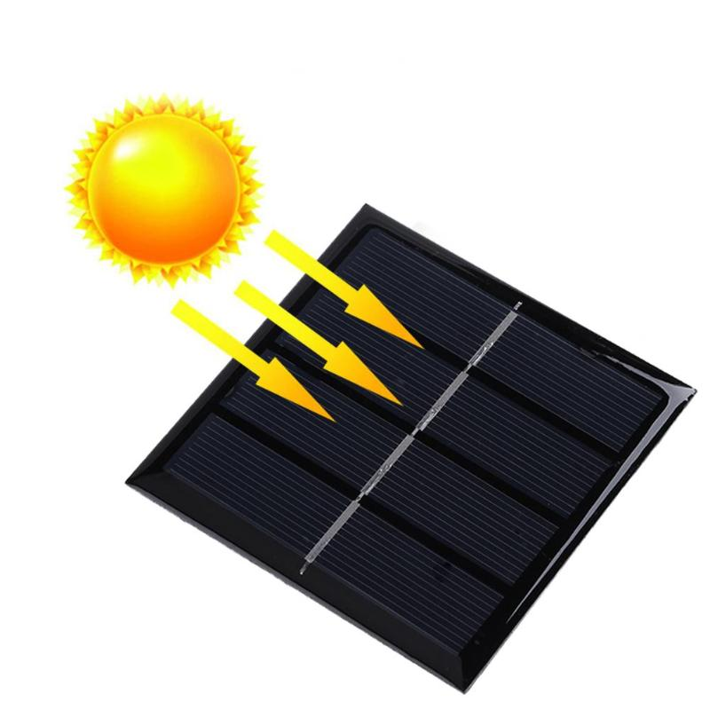 1W 2V Solar Panel Charging Board Battery Charger Module Battery Charger for 1.2V AAA Rechargeable Battery Portable Solar Charger