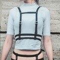 Arnês De Couro Das Mulheres dos homens Unisex GÓTICO, corpo Gaiola Escravidão Cinto Cintura Cintas Cinto Ajustável Fivela de Cinto Garter belts
